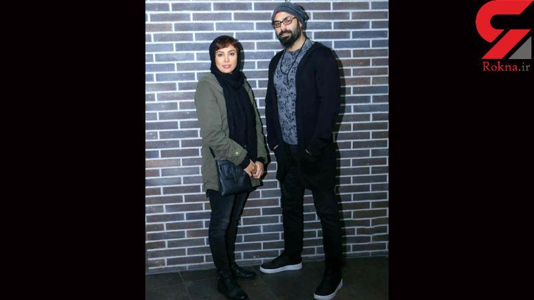 بازیگر زن در کنار همسرش