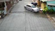 اقدام وحشیانه یک راننده با همسایه اش+فیلم