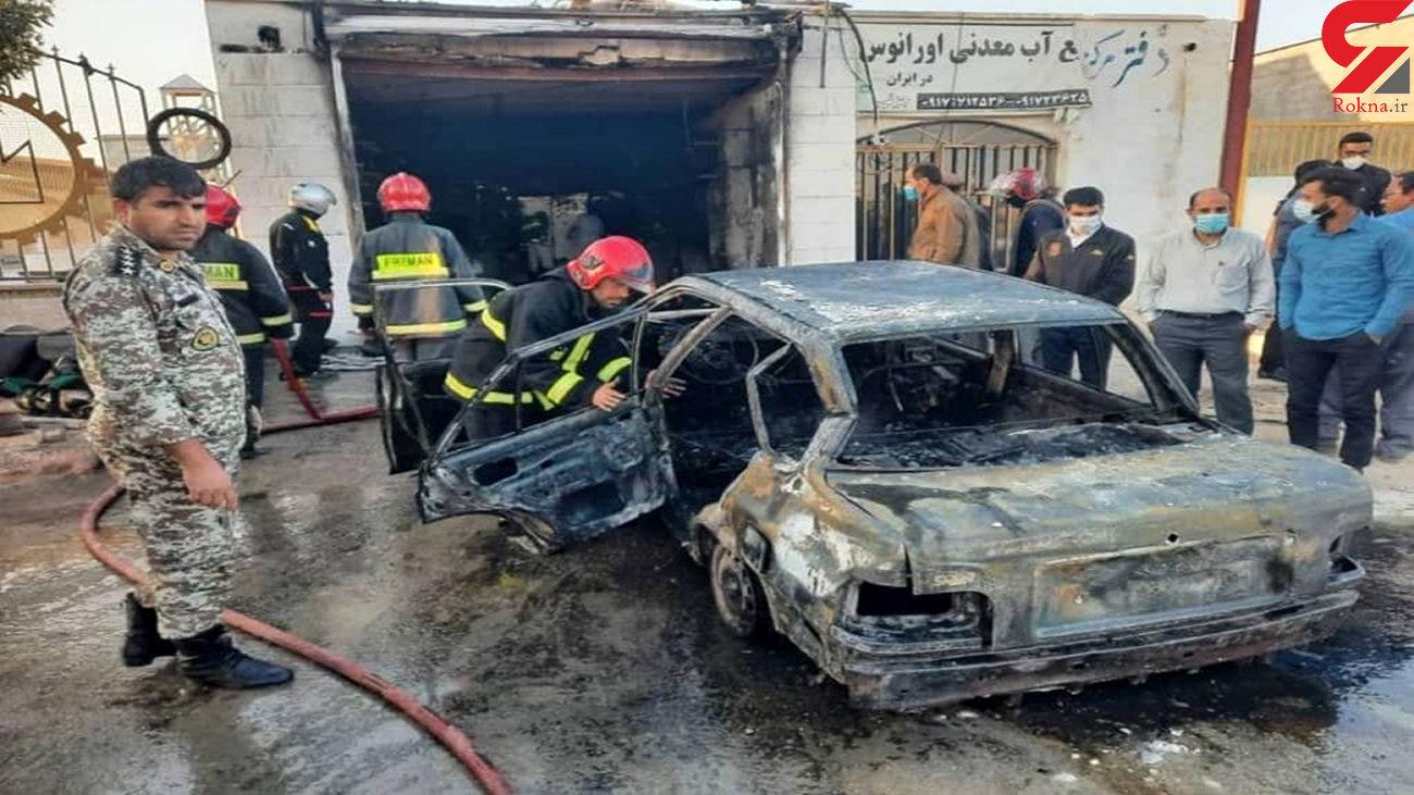 مرگ دلخراش مرد بوشهری در آتش سوزی تعویض روغنی + عکس