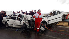 تصادف شدید در محور فیروزآباد-خلخال/ 9 کشته و زخمی عکس
