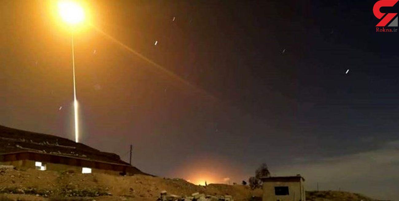مقابله پدافند هوایی سوریه در آسمان حمص