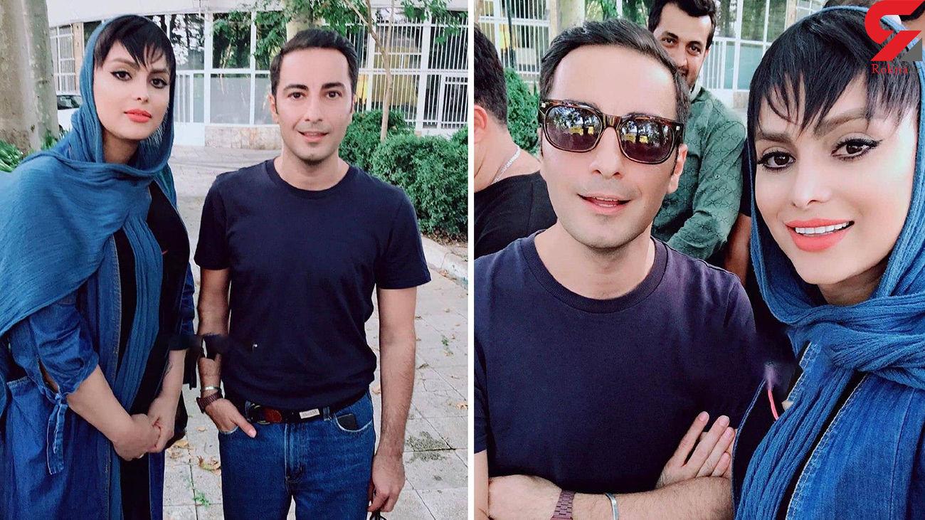 سلفی عجیب نوید محمدزاده و سایه افضلی + عکس
