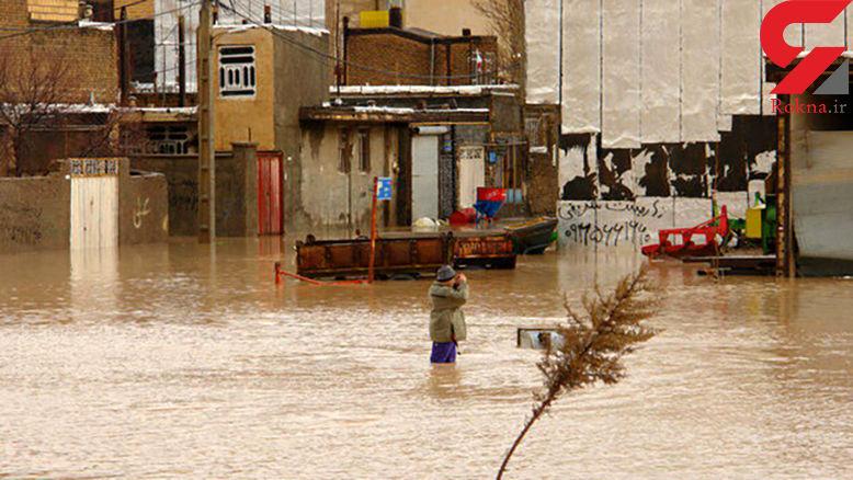 آب شهر «نورآباد» را فراگرفت/ تلاش برای انتقال مردم به مناطق امن
