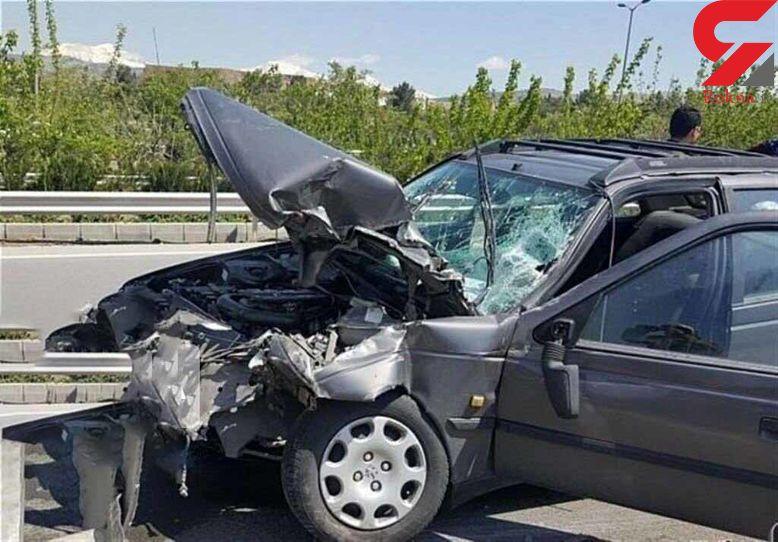 تصادف مرگبار در جهرم جان راننده پژو را گرفت