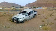 واژگونی خودروی رئیس اداره راهداری اردستان