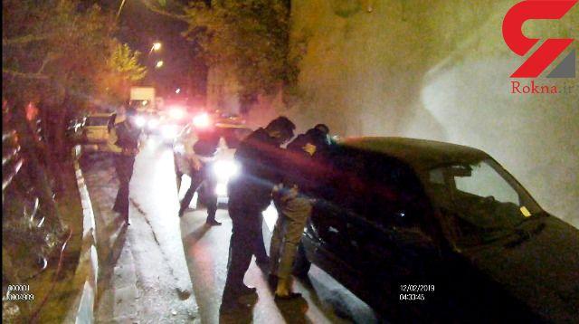 عکس به عکس با لحظه تعقیب و گریز خیابانی دزد و پلیس / بازداشت فرزین با 6 گلوله پلیس تهران