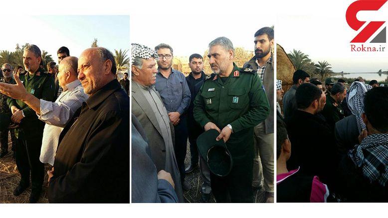 بازدید فرمانده سپاه از پشت صحنه یک فیلم سینمایی +تصاویر