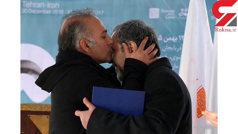 آقای بازیگر بر چشمان یک نابینا بوسه زد+عکس