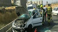 واژگونی پژو ۲۰۶ در قزوین