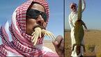 این مرد سعودی مامولک ها را خام خام می خورد + فیلم و عکس