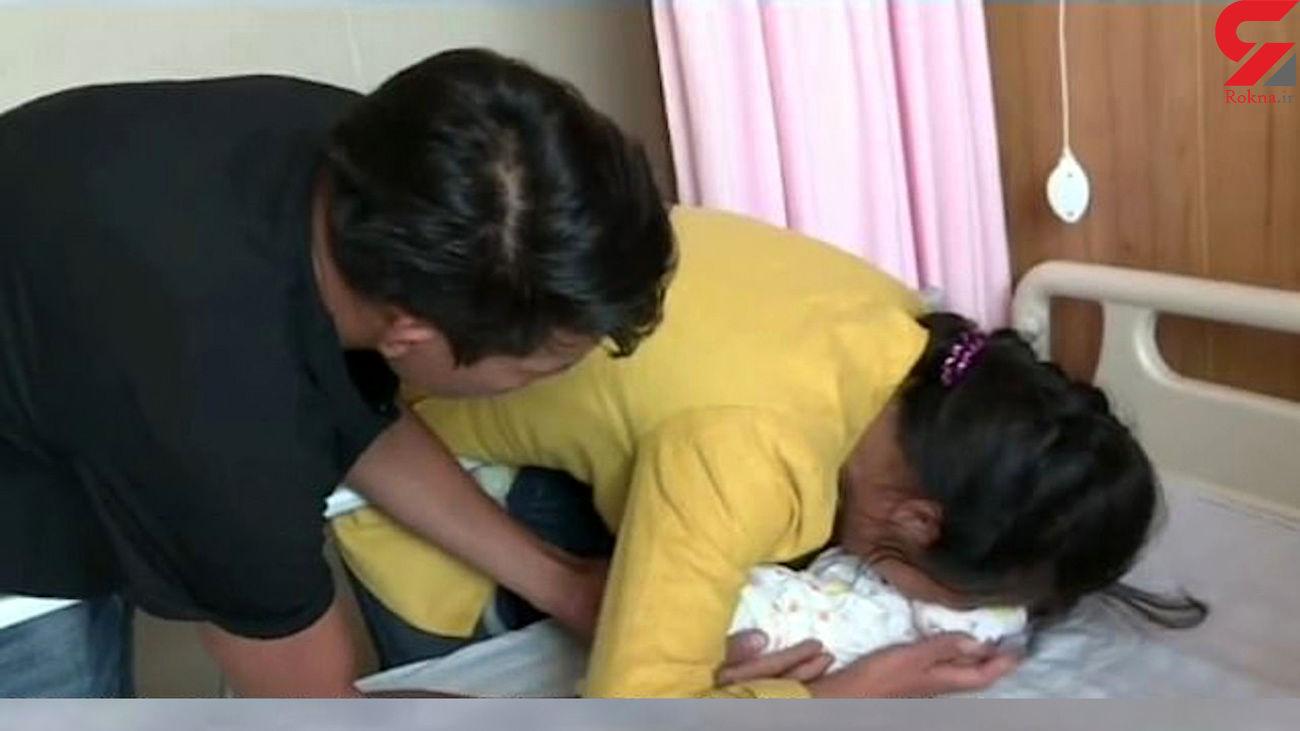 فیلم لحظه بازگرداندن  نوزاد ربوده شده به مادرش  + فیلم