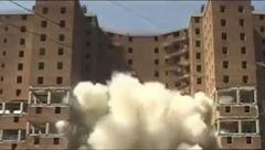 مهندسی تخریب یک ساختمان بزرگ را ببینید+ فیلم جالب