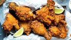 لذیذترین مرغ سوخاری با عطر ادویه های رنگی + دستور پخت