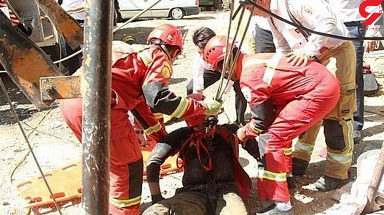 سقوط مرگبار ۲ کارگر به اعماق چاه ۳۰ متری + عکس