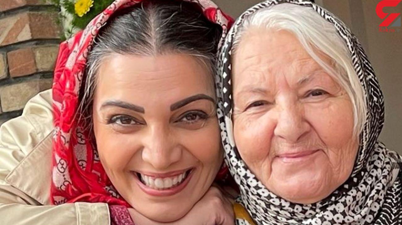 الهام پاوه نژاد هم پیر شد / موهای سپید خانم بازیگر