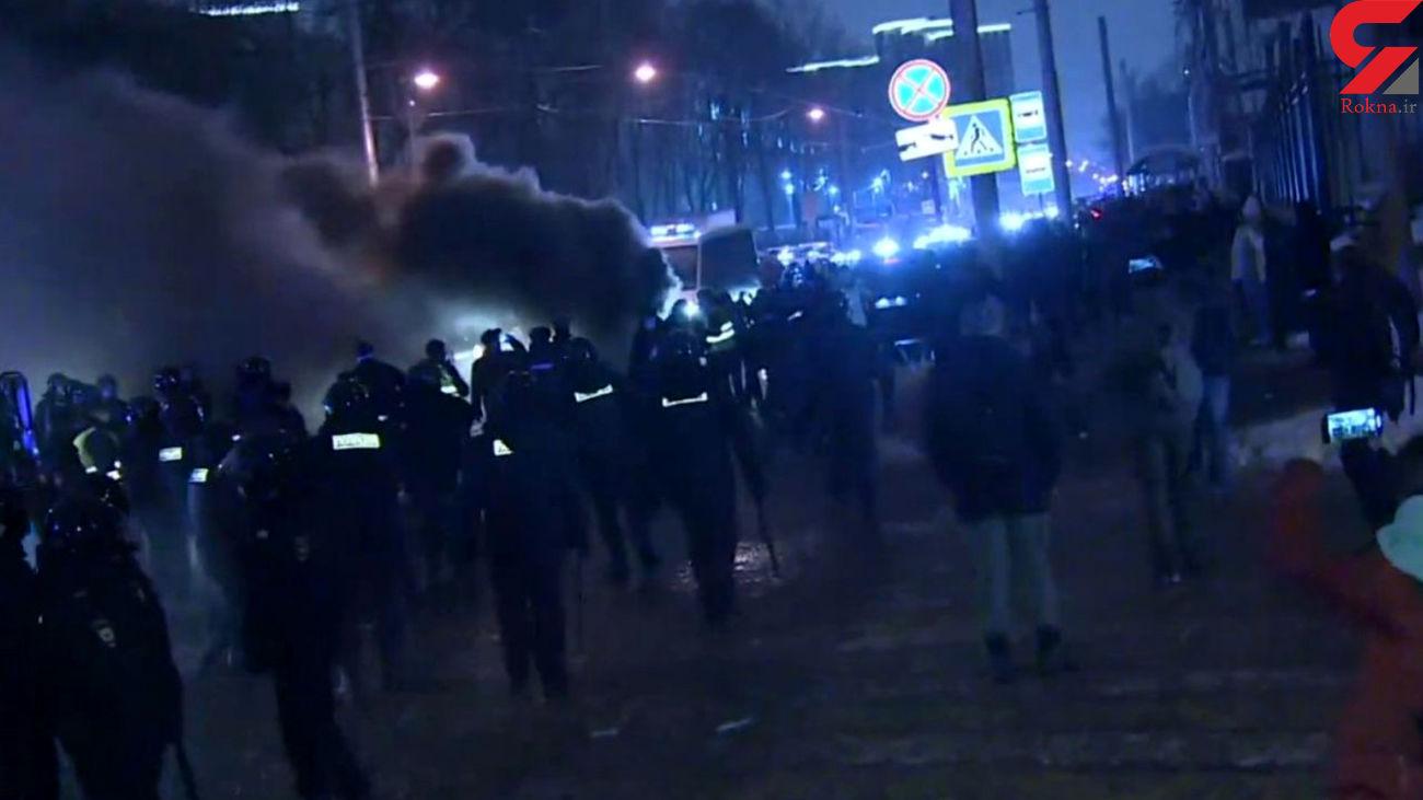 خروش مردم روسیه علیه پوتین در دفاع از ناوالنی + فیلم