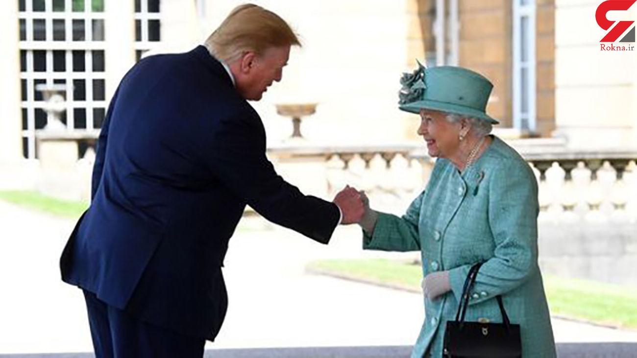 دست دادن ترامپ با ملکه انگلیس خبرساز شد+عکس