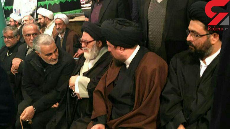 حضور حاج قاسم سلیمانی در حسینیه جماران+فیلم و عکس