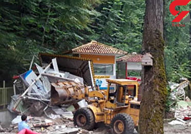 تخریب بخشهایی از سفره خانه سنتی معروف ناهارخوران گرگان