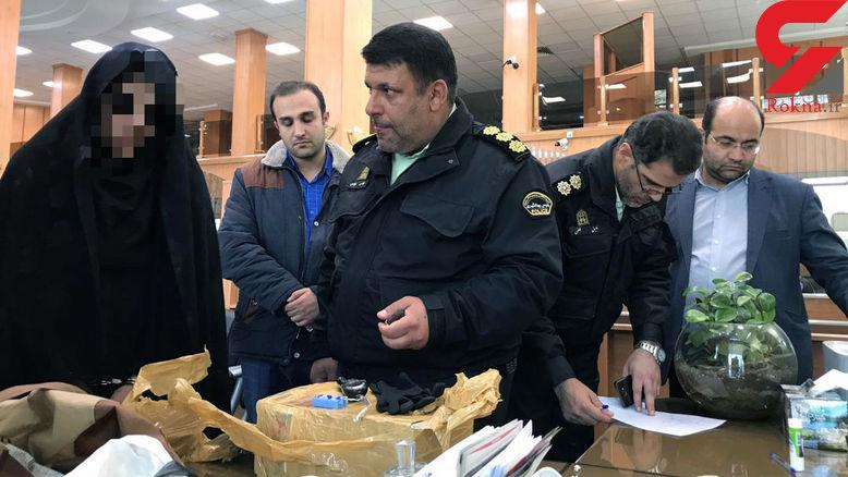 تهدید به بمب گذاری یک بانک در فرمانیه تهران توسط یک زن + جزئیات و تصاویر
