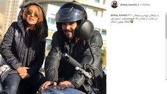 موتورسواری پانتهآ بهرام و کامبیز دیرباز+عکس