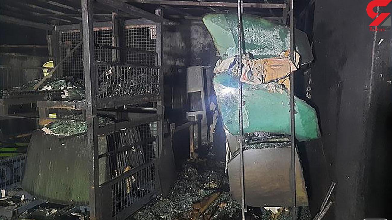 6 عکس از آتش سوزی بزرگ در شهرزیبا / انبار شیشه ماشین خاکستر شد