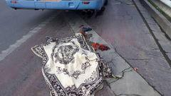 اتوبوس از روی مرد تهرانی رد شد +عکس ناراحت کننده