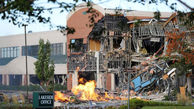 تخریب و آتش سوزی یک مجتمع تجاری در مریلند+عکس
