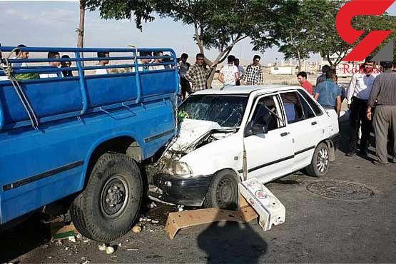 یک کشته در تصادف پراید و نیسان امداد خودرو رکنا