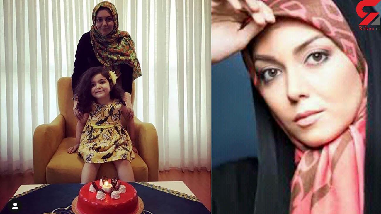 پوشش جالب آزاده نامداری در جشن تولد دخترش / مادر و دختر ست کرده بودند + عکس