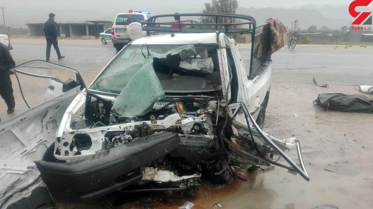 تصادف مرگبار در جاده زنجان / یک کشته و 4 مصدوم