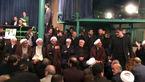 حضور مردم و چهرهها  در کنار پیکر آیتالله هاشمی رفسنجانی در حسینیه جماران +فیلم و تصاویر