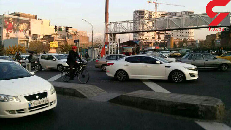 شهردار تهران امروز با دوچرخه به محل کار رفت+عکس