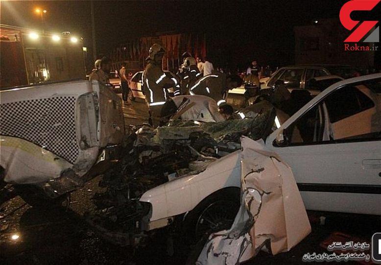 تصادف خونین در محور خمین ـ محلات؛ ۴ نفر کشته و زخمی شدند