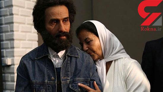 بوسه خانم بازیگر ایرانی بر شانه شاعر سرشناس +عکس