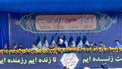 لحظه مطلع شدن رئیس جمهور از حمله تروریستی اهواز و ترک جایگاه + تصویر