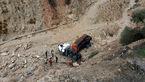 سقوط  تریلی به دره مرگ در کازرون+عکس