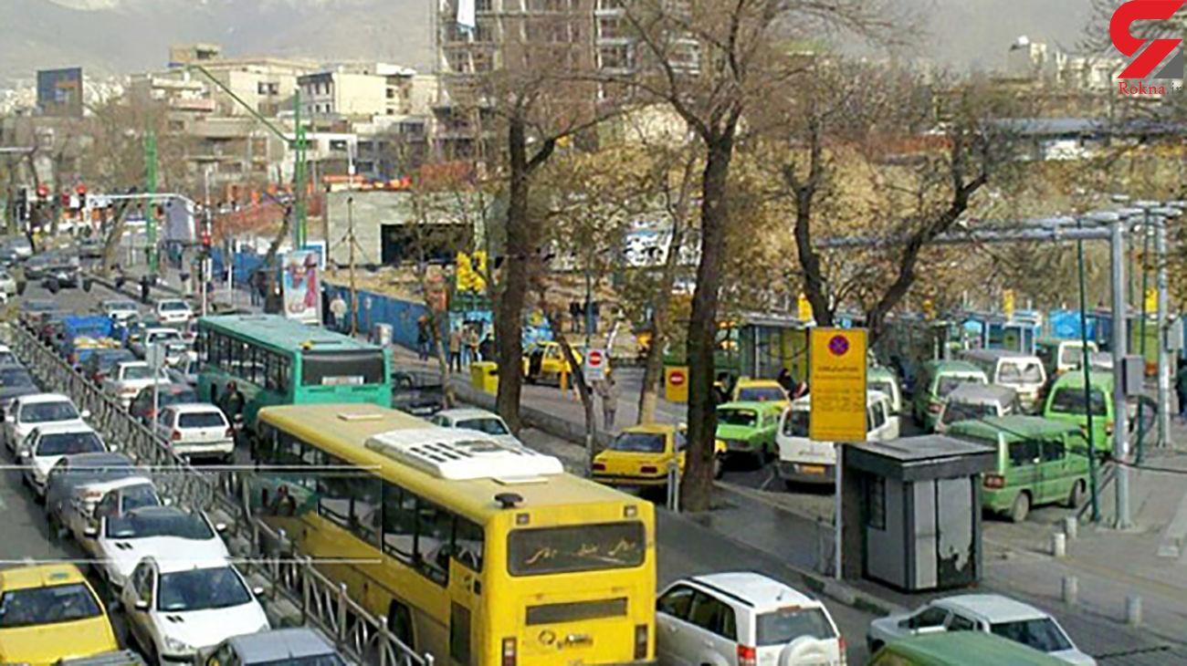 وضعیت ترافیک بزرگراه های تهران در 19 آبان