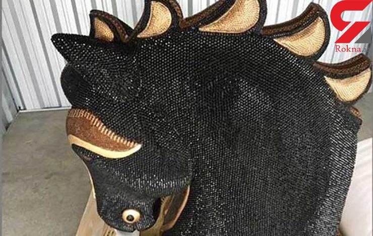 ۳۵ کیلو کوکائین در سر مجسمه یک اسب جاساز شده بود+عکس