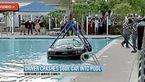 پارککردن خودرو در استخر همسایه توسط راننده زن+ عکس