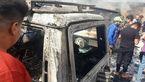 علت انفجار در بغداد چه بود؟!/ یک خودرو همه جا را به آتش کشید!