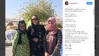 حضور متفاوت بازیگر زن در مناطق زلزله زده +عکس