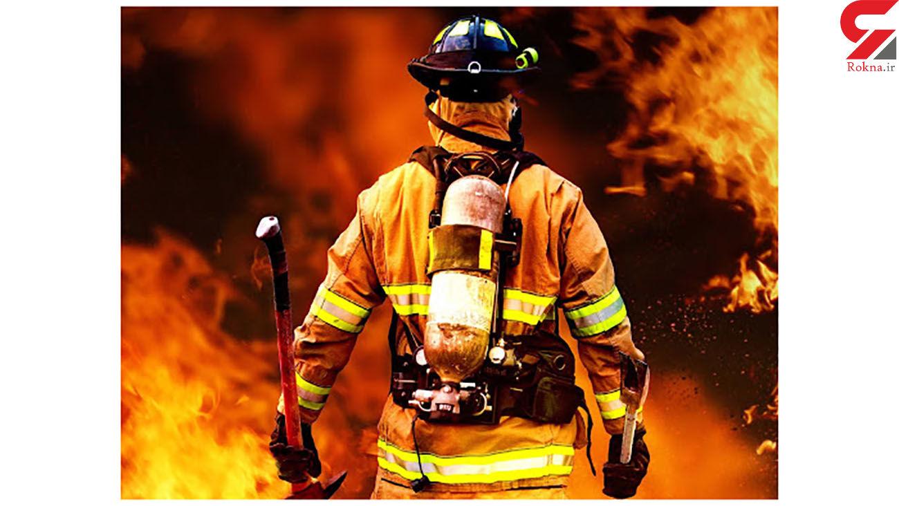 آتش سوزی در فردیس / علمک گاز آتش گرفت