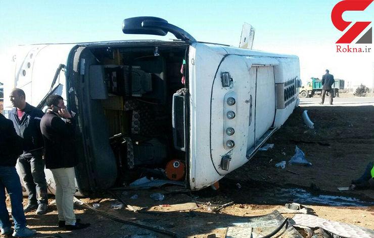 واژگونی مرگبار اتوبوس مسافربری در جاده چالوس/ 14 قربانی و 14 مجروح در این حادثه