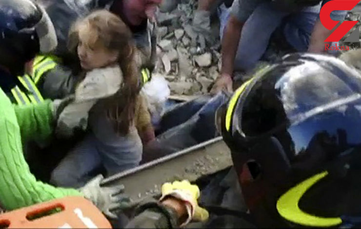 فیلم نجات دختر 10 ساله از زیر آوار بعداز ۱۷ ساعت + تصاویر