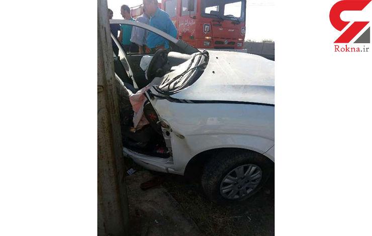 برخورد خودرو با تیر چراغ برق در محور پیشوا یک نفر را به کام مرگ فرستاد