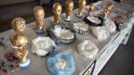توقیف مواد مخدر جاسازی شده در مجسمههای جام جهانی + عکس