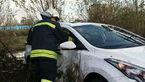 برخورد دو خودرو 2 قربانی گرفت+تصاویر