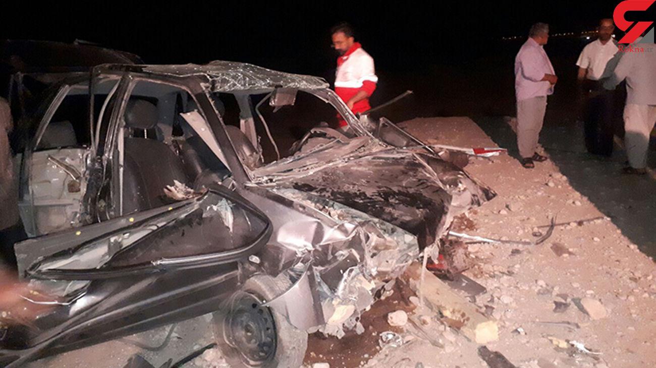 واژگونی پراید ۲ کشته و زخمی برجای گذاشت