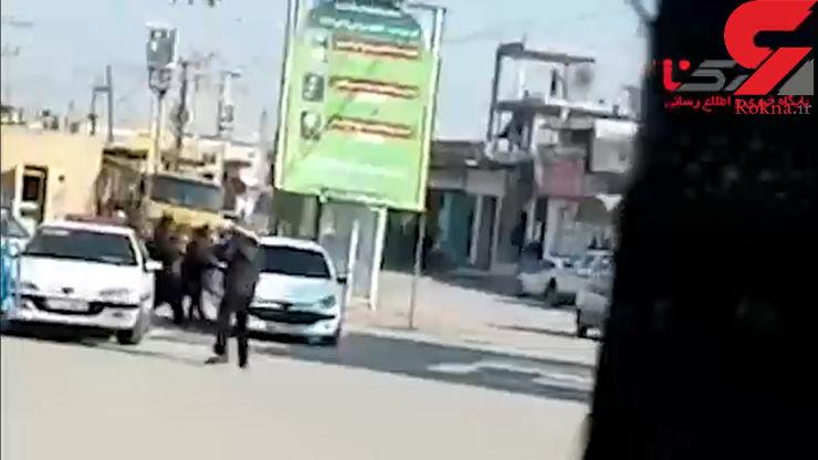 فیلم دلهره آور از لحظه سرقت مسلحانه از طلافروشی در ماهشهر